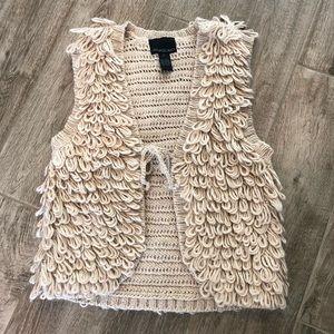 Cynthia Rowley Bobo Looped Alpaca Vest + Medium